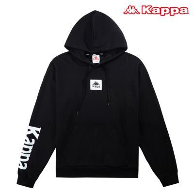 [카파] AUTHENTIC 남성 빅로고 후드 티셔츠 (KKHD151MN-BLK)