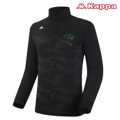 [카파] 남성 카모플라주 반집업 티셔츠 (KKRL101MN-BLK)