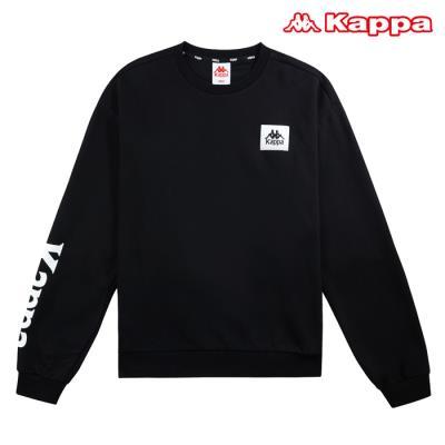 [카파] AUTHENTIC 남성 로고아트 맨투맨 (KKRL153MN-BLK)