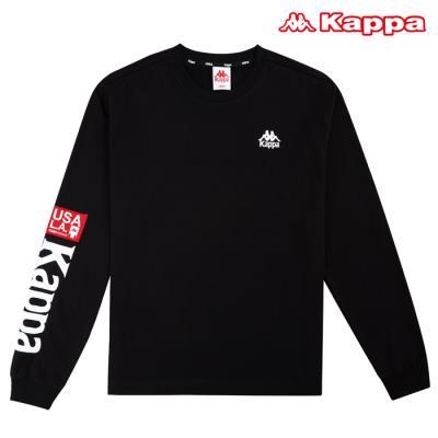 [카파] AUTHENTIC 남성 빅로고 티셔츠 (KKRL151MN-BLK)