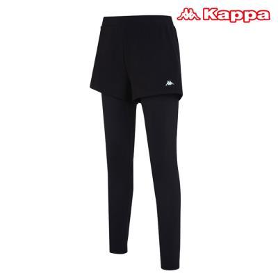 [카파] 여성 로고 포인트 반바지레깅스 (KKLG183FO-BLK)