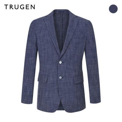 (트루젠) 체크 린넨 수트 자켓 (TG9S3-MJK366)
