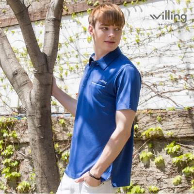 [이동수윌링] 남성 쿨 스트래치 셔츠 WH7BMTS304_BL
