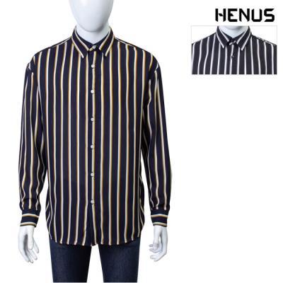 [헨어스] 남성 투톤 스트라이프 셔츠