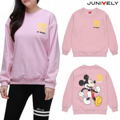 쥬니블리 미키 워킹 데일리 티셔츠 핑크