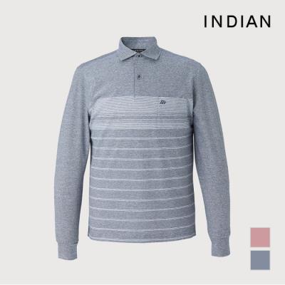 [INDIAN] 린넨 혼방 스트라이프 패턴 티셔츠_MITALXS1411