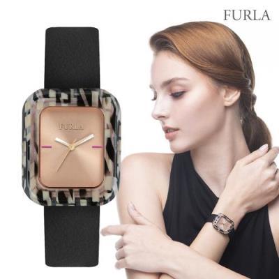 FURLA 훌라 엘리스 블랙 레더 시계 R4251111505