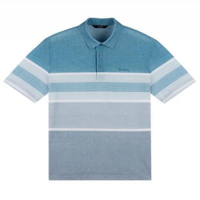 엠보 블록 스트라이프프린트 티셔츠 PKTS2419