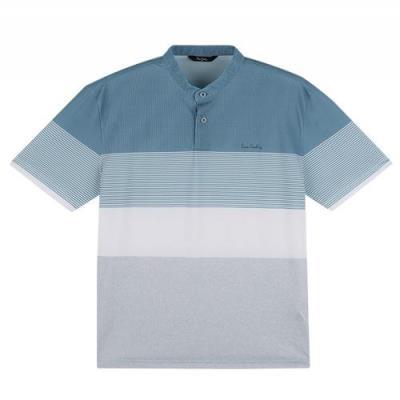 차이나카라 4단블럭 티셔츠 PKTS2423