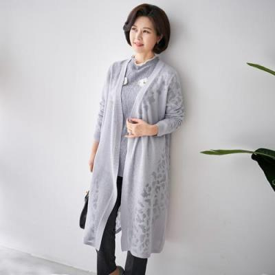 엄마옷 마담4060 와플가디건-QCA102006-
