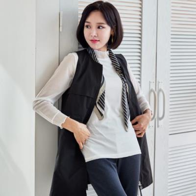 엄마옷 마담4060 집업스트링조끼-QVE103001-