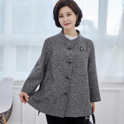 엄마옷 마담4060 로미트위드자켓-QJK103003-