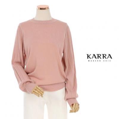 KARRA 소매플리츠라운드니트_KB1SKN044A