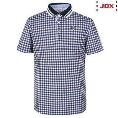 [JDX] 남성 3도깅엄체크프린트 요꼬에리티셔츠(X2QMTSM01DN)