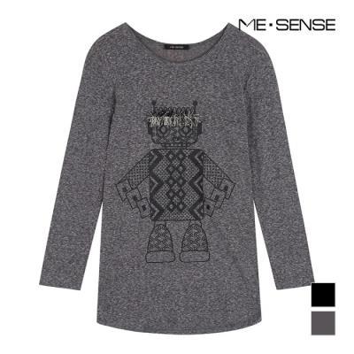 [미센스] 라운드넥 프린팅 티셔츠_M4XTSP458Z