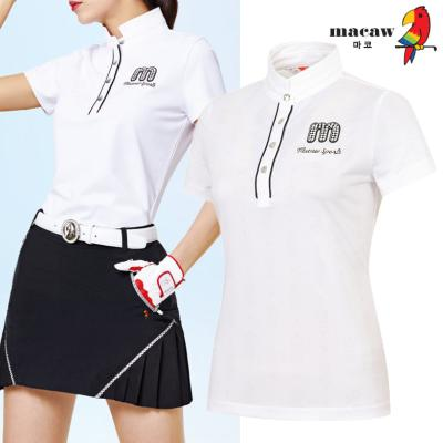 (여성)자가드패턴반목 반팔 티셔츠_MIW2TS04