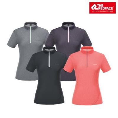 [레드페이스 본사] 여성 카이 쿨 하프 우먼 짚 티셔츠 REWFTSM21050