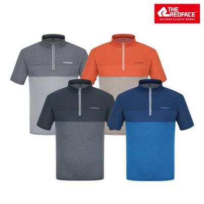 [레드페이스 본사] 남성 카이 쿨 하프 짚 티셔츠 REWMTSM21010