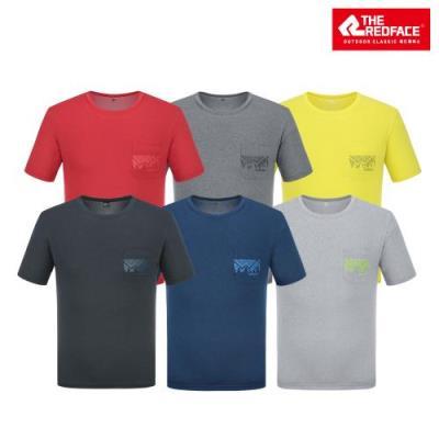 [레드페이스 본사] 남성 하이라이트 라운드 하프 티셔츠 REWMTSM21611