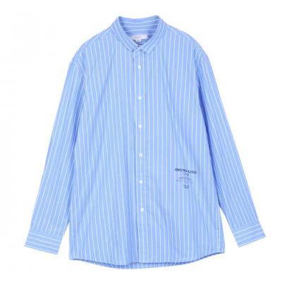 선염세로 스트라이프 레터링 포인트 셔츠 BSWS5111