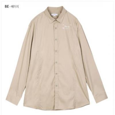 CN 면스판 오버사이즈 솔리드 셔츠 BSWS61A1