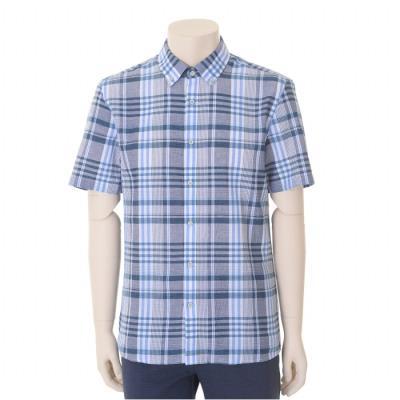 그린 린넨 경량 서커 버튼다운 반팔 셔츠 (BST2TT20A)
