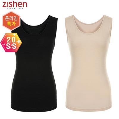 [지센]아이스 실크 민소매 티셔츠-ZKCTS423
