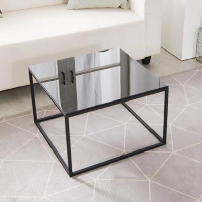 고디 750 강화유리 큐브 테이블