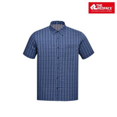 [레드페이스 본사] 남성 베이직 체크 하프 셔츠 REWMWSM18011