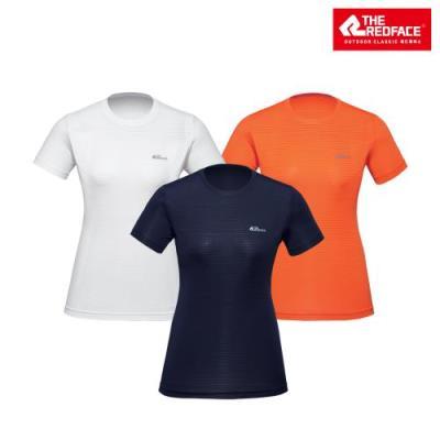 [레드페이스 본사] 여성 더블 메쉬 라운드 하프 티셔츠 REWFTSM18655
