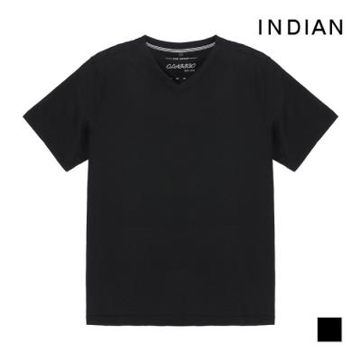 [INDIAN] 베이직 반팔 브이넥 티셔츠_MITASUM3121