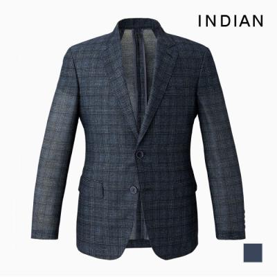[INDIAN] 체크 프린트 썸머자켓_MITFUVM2401