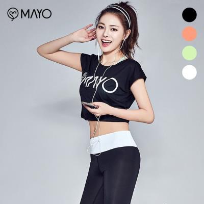 (마요)  마요 하프숄더 크롭 티셔츠(MY7SL01)