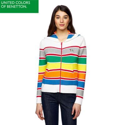 멀티 컬러 후드 집업 스웨터_1298E5550