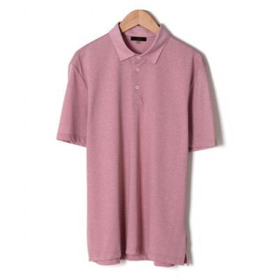 핑크 심플 카라 티셔츠 (BSU2KF05A) (BSU2KF05A)