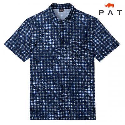 [PAT 남성][2020년]불가리 체크 프린트 티셔츠_1G35157
