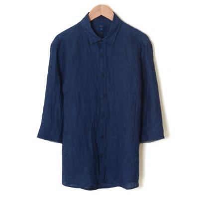 네이비 린넨 셔츠 (WSU2TA15A) (WSU2TA15A)