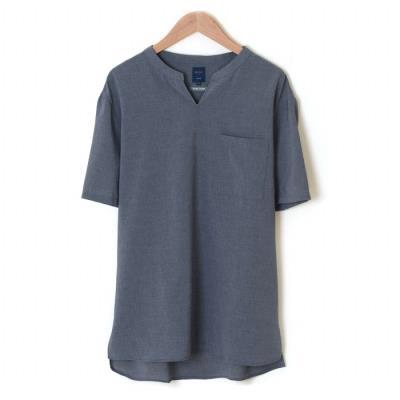 블루그레이 포켓 반팔 튜닉 셔츠 (WSU2TA79A) (WSU2TA79A)