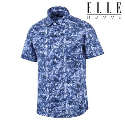 ▣엘르옴므 ▣ 번아웃 서커 꽃프린트 레귤러핏 반소매셔츠 63132