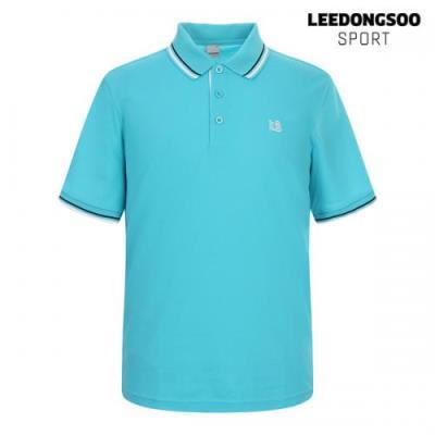 이동수 골프웨어 여름 남성 배색 반팔 카라 티셔츠 스카이블루 H1B-TS4510-S1