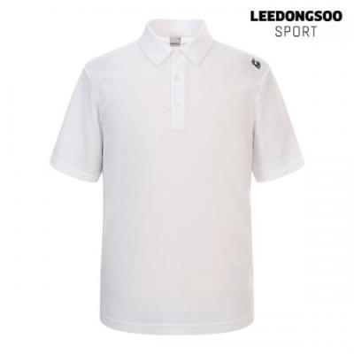 이동수 골프웨어 여름 남성 카라 반팔 티셔츠 화이트 H1B-TS4810-W1
