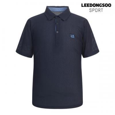 이동수 골프웨어 여름 남성 허니컴 반팔 피케 티셔츠 네이비 H1BTS3531-N1