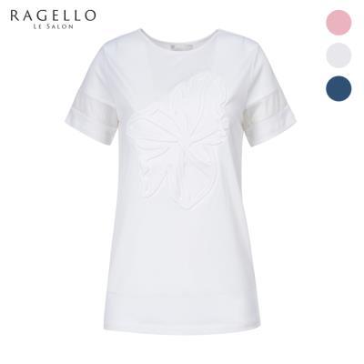 (라젤로) 플라워 디테일 반팔 티셔츠 (RG8MTS905)