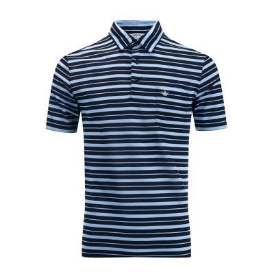 [임페리얼] 남성 언발란스 스트라이프 카라 티셔츠 네이비 (ISZ123049)