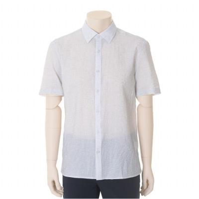 네이비 뱀부 혼방 반팔 셔츠(BST2TT22A)