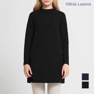 [올리비아로렌] 히든포켓 절개 롱 티셔츠_VOCALVF8341