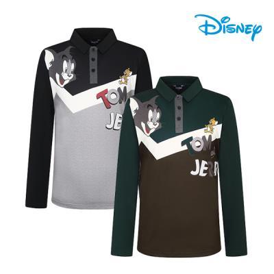 디즈니골프 가을 남성 톰과제리 프린팅 카라 긴팔 티셔츠 WJ3MTS004