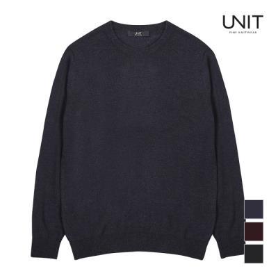 [UNIT] 남성 라운드넥 캐시미어 니트_UMC4-KR91N