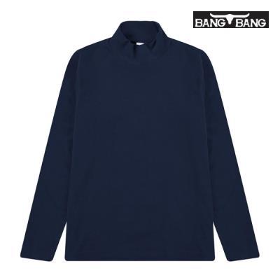 [뱅뱅] 남성 반목 베이직 티셔츠 네이비