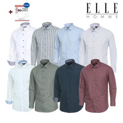 ▣엘르옴므 ▣ 미세먼지 마스크 사은품 증정 셔츠 20종 택 1 긴팔셔츠묶음